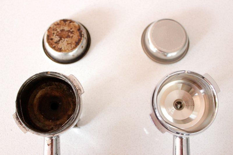 O kawie i ekspresach do kawy - Czyszczenie kolb